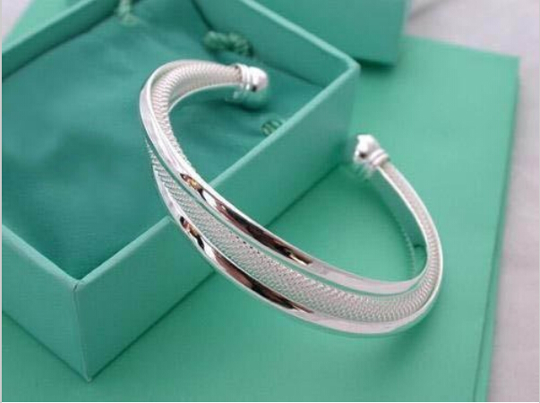 wholesale Silver plated Dreamlike Hypotenuse Bangle for womes