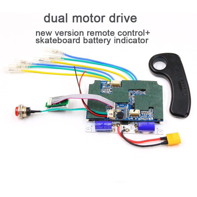 NEW version 2.4G transmitter remote esk8 24V 29.4V 36V 6s 7s 10s single dual motor drive controller ESC for electric skateboardNEW version 2.4G transmitter remote esk8 24V 29.4V 36V 6s 7s 10s single dual motor drive controller ESC for electric skateboard