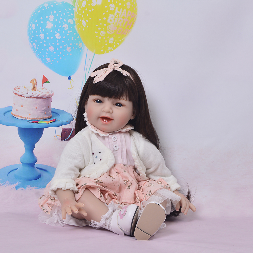KEIUMI 22 Inch Real Looking Reborn Dolls Lifelike Soft Silicone 55 cm Newborn Babies Doll Toy For Kids Birthday Xmas Gift 22 inch 55 cm silicone baby reborn dolls lifelike doll newborn toy girl gift for children birthday xmas