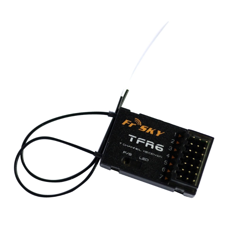 FrSky TFR6 2.4GHz 7-channel Receiver for RC Hobby Compatible with FASST frsky tfr6 a 7ch fasst compatible receiver for rc multicopter