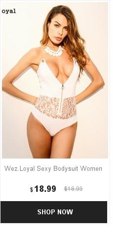 9035905c09 Wez.Loyal 2018 Womens Skinny Bodysuit Floral Printed Lace Bodysuits ...