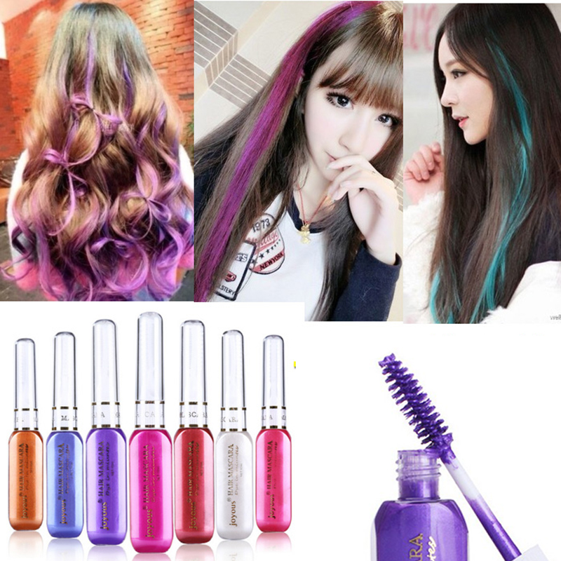 1pc Temporary Colorful Hair Dye Hair Mascara Non Toxic Hair Mix
