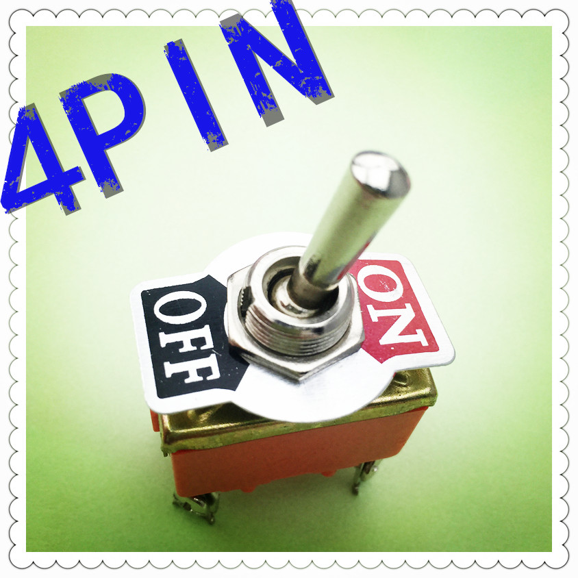 1pcs/lot E-TEN1221 4-Pin SPST 4 Terminal G108 ON-OFF 15A 250V Toggle Switch Good Quality Free Shipping Russia 5 x on off small toggle switch miniature spst 6mm ac250v 3a 120v 5a