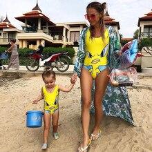 Die Badebekleidungs-Sportkleidung der europäischen Art des Badeanzugs 2018 des europäischen und amerikanischen Karikaturentwurfs reizende Elternteil-einteilige.