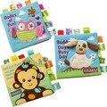 1 Шт. Детские Мягкие Игрушки Животных Вышитые Ткань Книги Новорожденный Раннее Развитие Деятельности Книг для Baby Дети Подарки