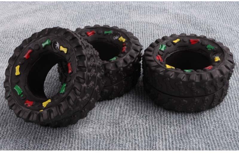 OnnPnnQ Elasticity Tire Dog Cat Toy Squeak Sound Chew Treat Holder Funny Puppy Training molar Toys Dog Interactive Pet Supplies7