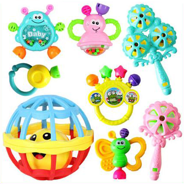 Excellent Quality Baby Rattle Ring Bell Baby Toy Crib Bed Hanging Animal Teether Newborn Infant Early Educational Doll Baby Gift