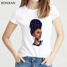 Melanin Poppin' for Women T-Shirt femme harajuku Melanin Poppin Shirt vogue  black girl print t shirt summer tops tumblr clothes цены