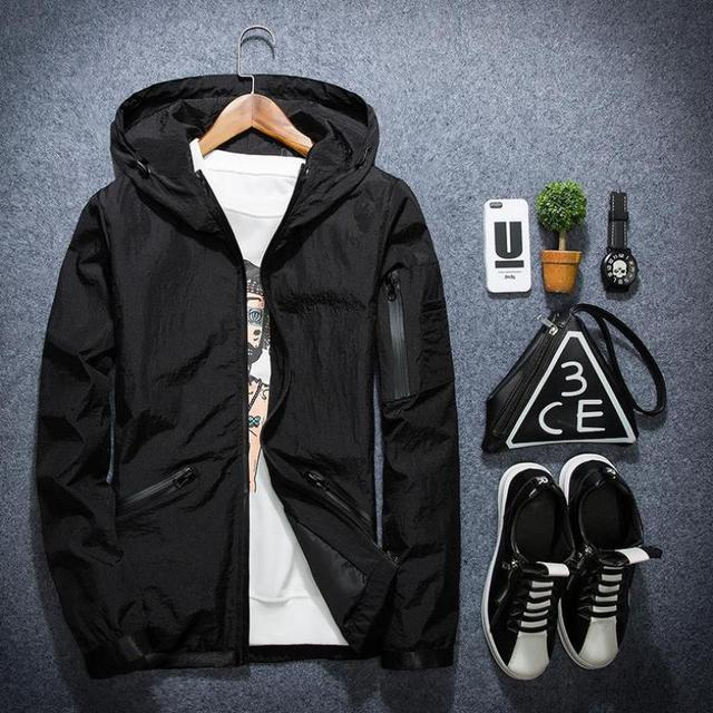 New 2017  Spring And Autumn Trend Of Men's Jacket Young Korean Thin Solid Tide Brand Cardigan Coat Free Shipping