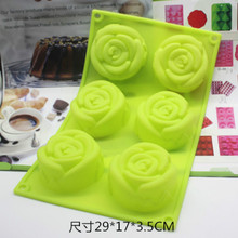 Connected 3D rose silicone cake mold fruit ice cube chocolate Soap molds