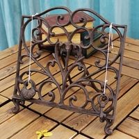 European Hollow Antique Foldable Tabletop Cast Iron Painting Easel Board Drawing Picture Display Decor Stand Holder Shelf
