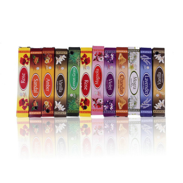 Nieuwe Mix 10 Indiase Wierook Aromatherapie Aroma Parfum Geur Fresh Air slaapkamer Badkamer accessoires incienso