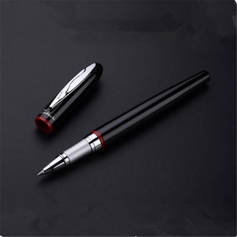 1pc/lot Red Picasso 907 Roller Ball Pen Montmartre Pimio Pens Silver Clip Canetas Office Supplies Retail Box 13.6*1.3cm elegant 6 in 1 ball point pen red flag mini golf set silver