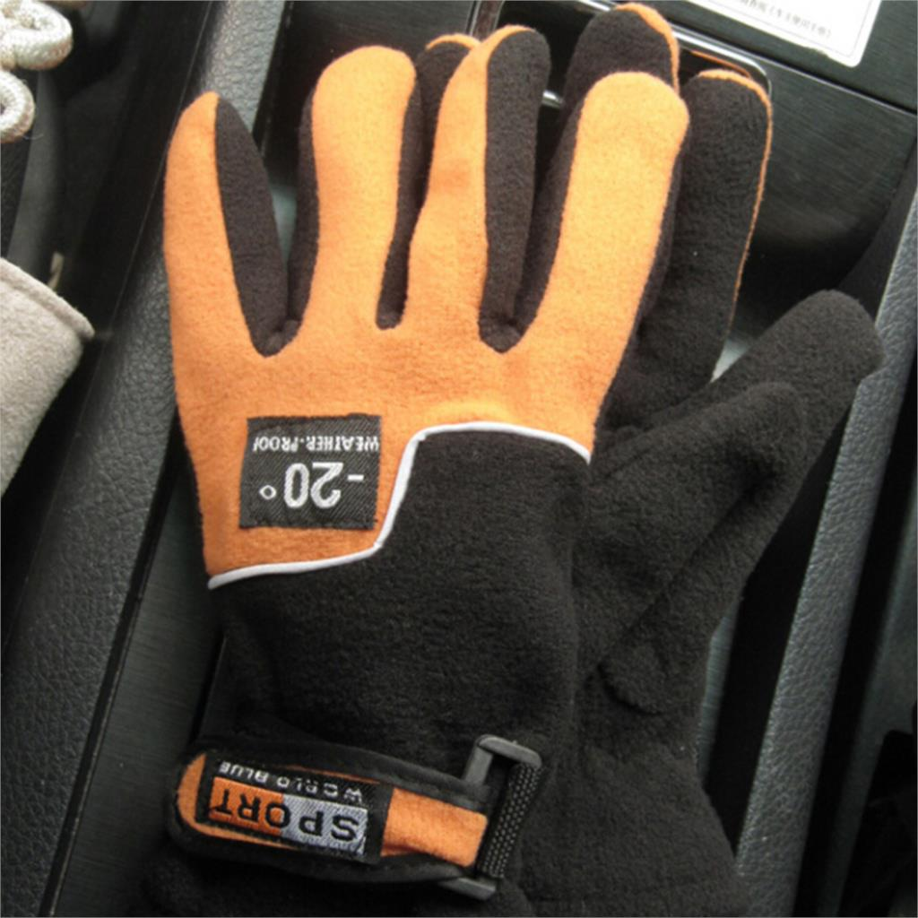 Tactical Winter Women Ski Motorcycle Warm Snowboard Gloves orange / dark blue / red