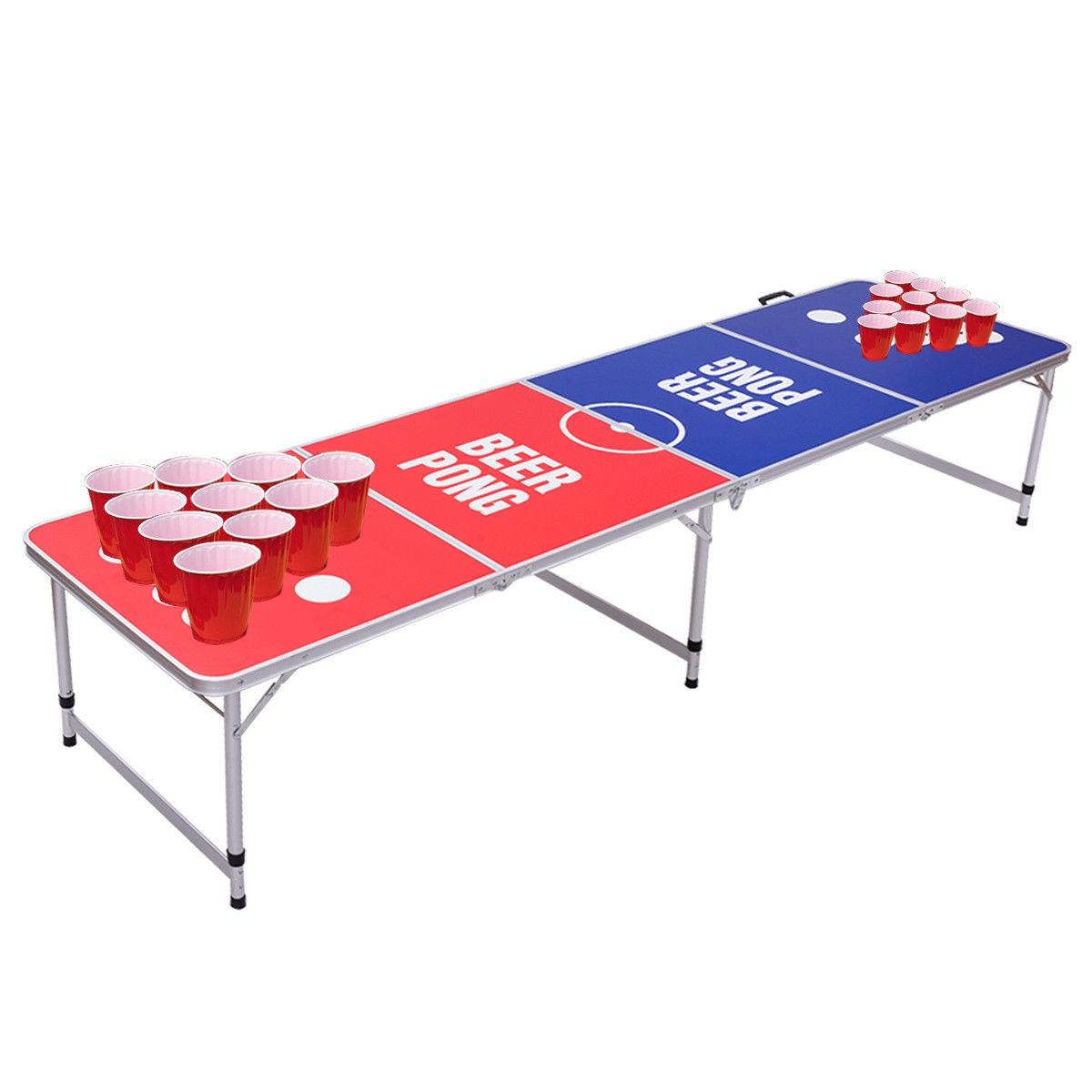 giantex 8ft tragbare falten bier pong tisch moderne partei gaming schreibtisch faltbare picknick im freien camping tische op3334 in giantex 8ft tragbare