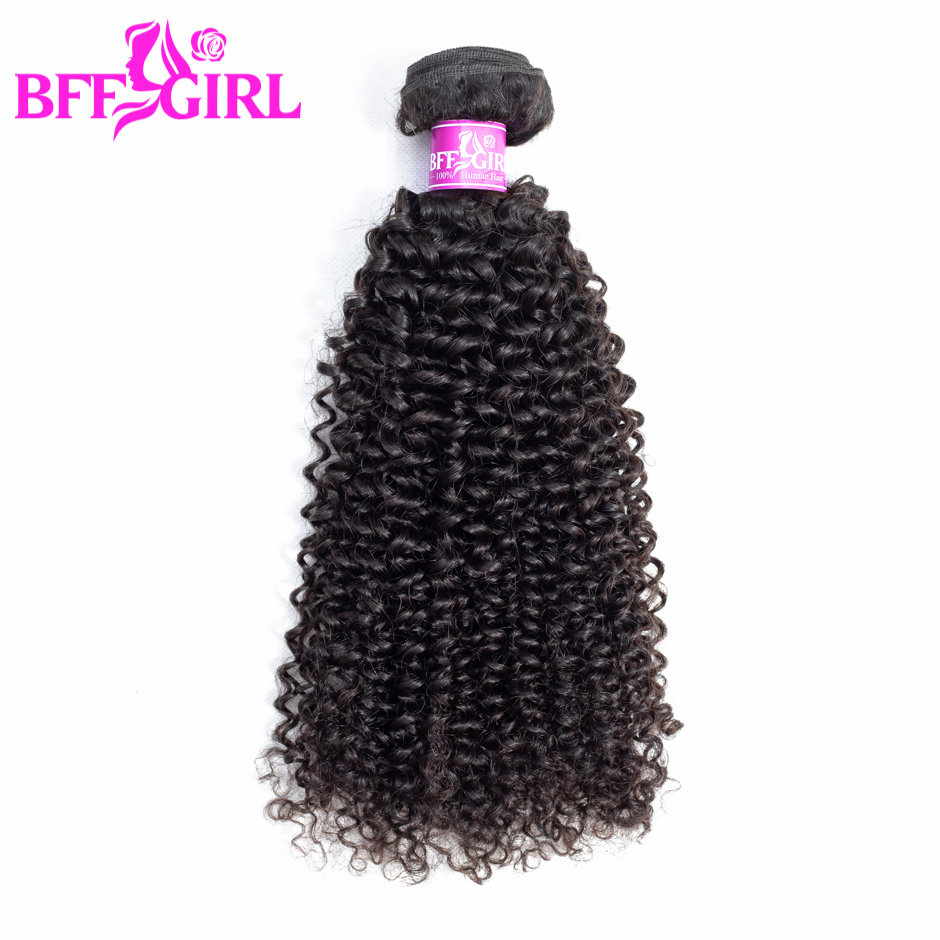 BFF GIRL Brazilian Kinky Curly Hair 100% Human Hair Weave Bundles Can Buy 3 4 Bundles Natural Color Non Remy Hair Extension