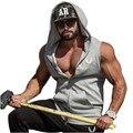 Hombres gymshark Con Capucha Sudaderas Ropa Para Hombre Culturismo Tank Top Sin Mangas pantalones de Chándal de Algodón Tees Camisa Chaleco Ocasional Del Acondicionamiento Físico