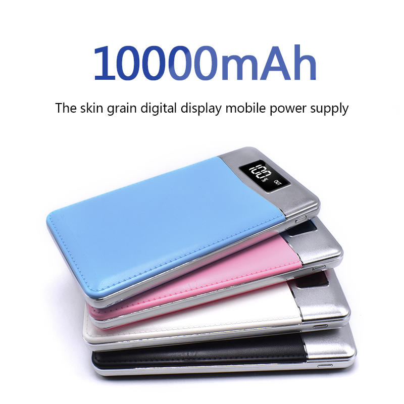 Quick Charge Power Bank 10000mAh 2 USB LCD Portable External Battery Mobile Phone Charger Power Bank for iPhone X Samsung Note mobile phone
