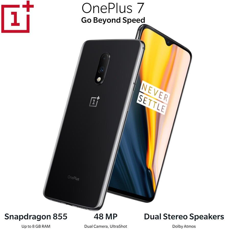 OnePlus 7 Android9.0 téléphone portable 12GB 256GB Snapdragon855 Octa core 6.41 pouces 2340x1080p 19.5: 9 plein écran 3700mAh NFC 48MP + 16MP