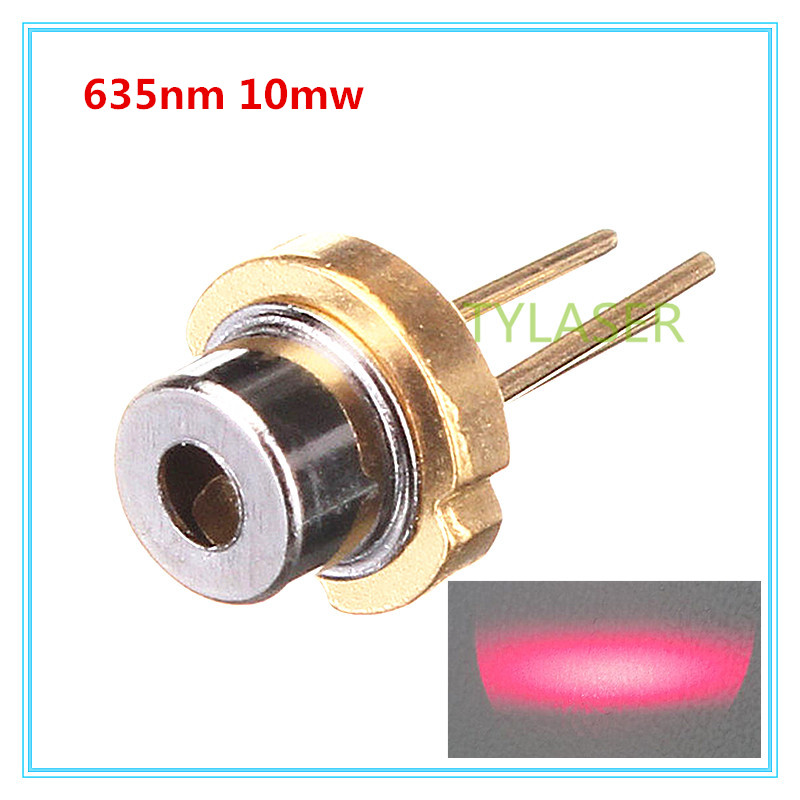 Low Power 635nm Red 10mW D5.6mm Laser Diode N Type With PD Feeback