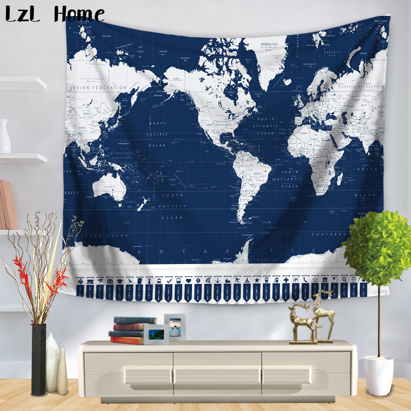 Lzl home 3d world map polyester tapestry home decor wall hangig lzl home 3d world map polyester tapestry home decor wall hangig tapestry picnic throw rug blanket camping tenet travel mattress in tapestry from home gumiabroncs Choice Image