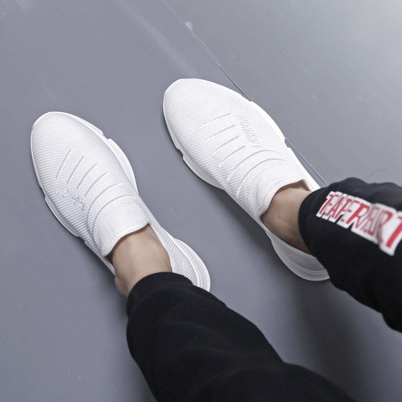 white Zapatillas Sapatilhas Casuais Black Das Homens Deportivas Hombre on Respirável Verão Formadores Masculino Slip Adulto De Tenis Sapatos YqTw1Pq