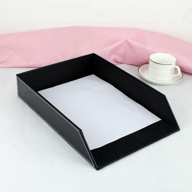 eckschreibtisch schwarz holz, aliexpress : a4 leder holz schreibtisch datei dokumentenablage, Design ideen