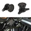Preto Motocicleta CNC Filtro de Ar + Filtro de Entrada do Filtro De Admissão De Ar Mais Limpo Sistema de Ajuste para 2004-2014 Harley Sportster XL 883 1200