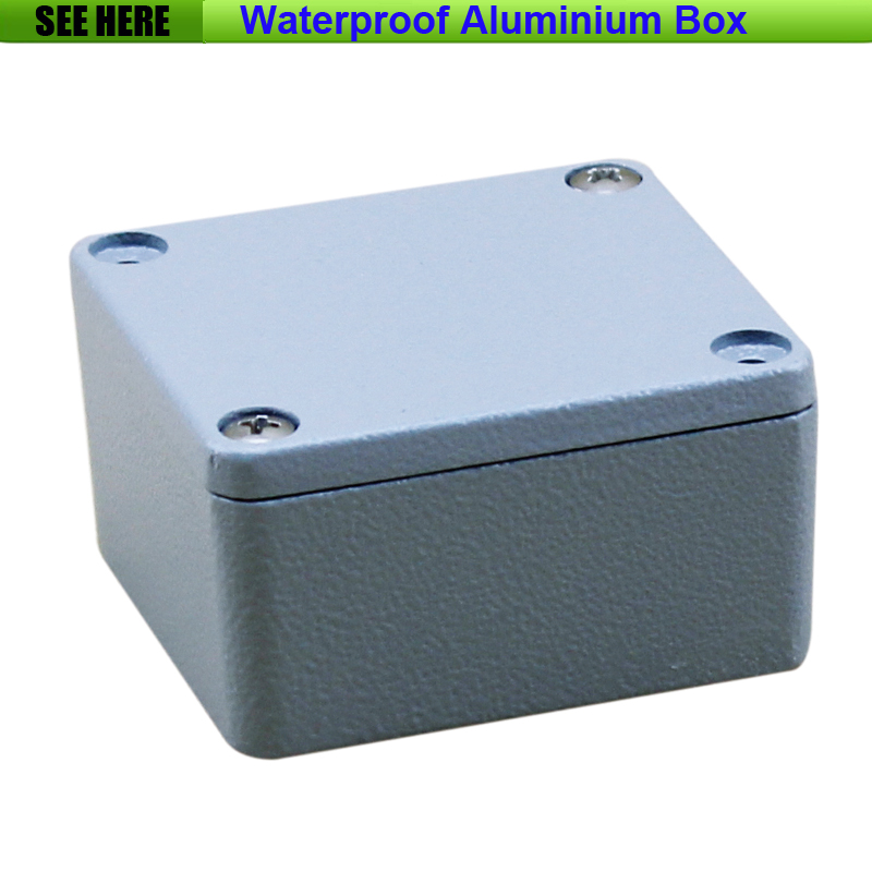 Free Shipping  1piece /lot Top Quality 100% Aluminium Material Waterproof IP67 Standard Aluminium Box Case 64*58*35mm 1 piece free shipping powder coating aluminium junction housing box for waterproof router case 81 h x126 w x196 l mm