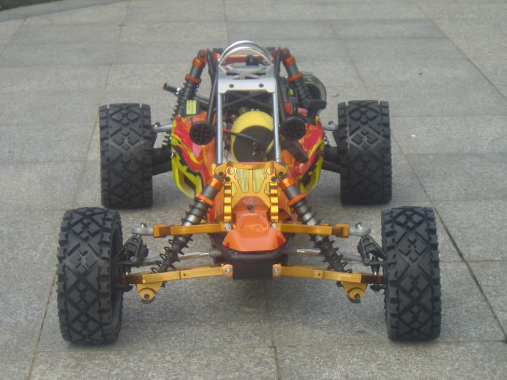 29CC  metal head baja+ front 4pc alloy arm 29cc baja metal head metal roll cage nice pipe