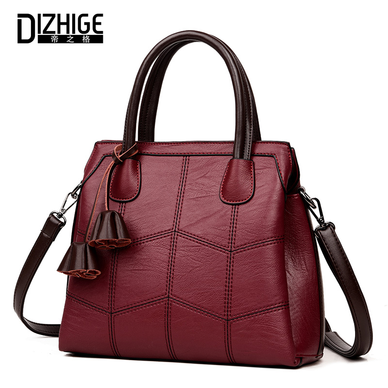 DIZHIGE Women Bags Designer Handbags High Quality Leather Shoulder Bag 2018 Fashion Large Capacity Casual Tote Bag Famous Brand 2018 soft genuine leather bags handbags women famous brands platband large designer handbags high quality brown office tote bag