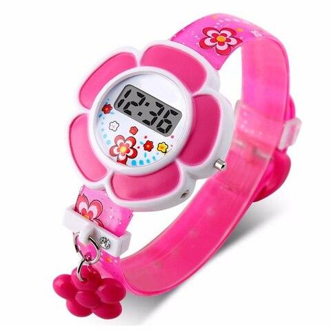 Children Watches Cute Flower Cartoon Children Silicone Wrist Watches Digital Wrist Watch For Kids Boys Girls Watches Wrist Watch Pakistan