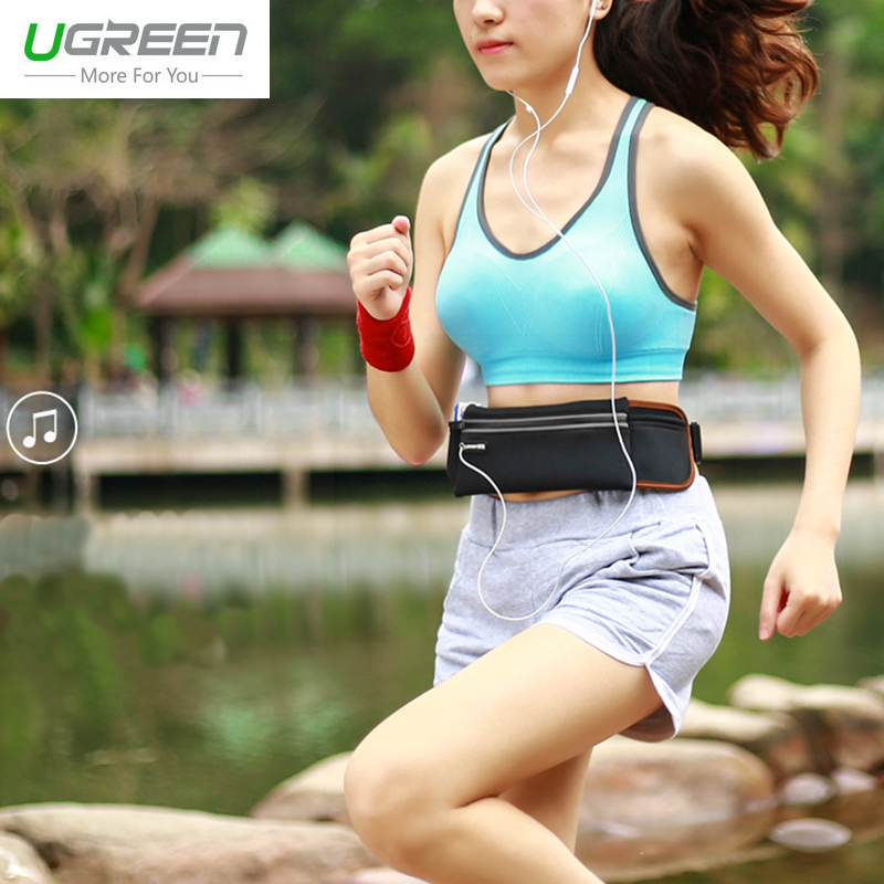 Ugreen I6 Waterproof Phone Sports Waist Bag For iPhone 5S Run Phone Pouch For Samsung Huawei P9 Adjustable Gym Phone Cover pack