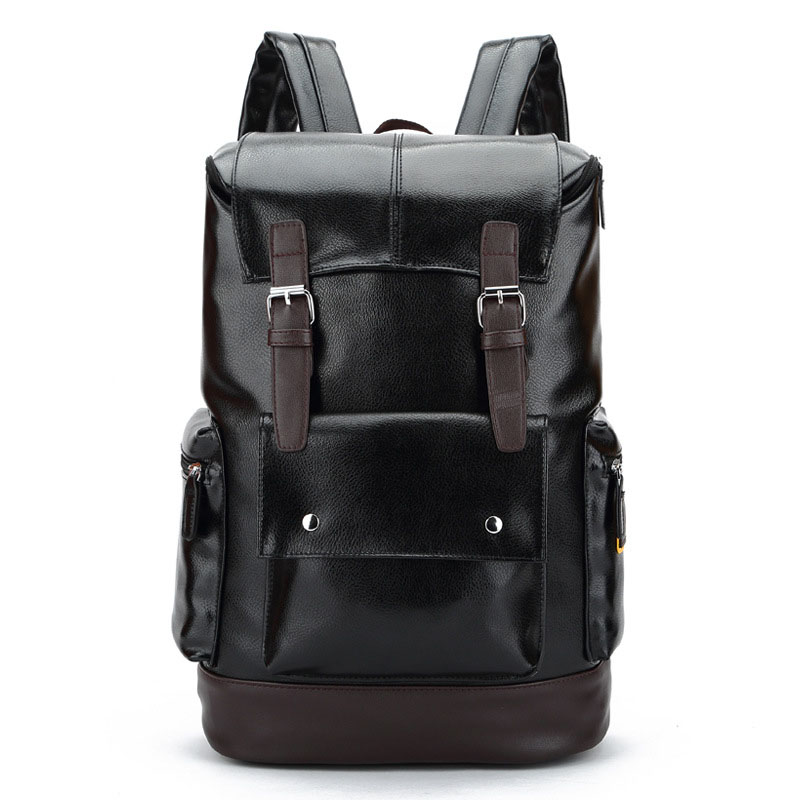 New Arrivals Men Backpack For School Bag College Laptop Backpack Large Capacity Casual Style Travel Bag PU Leather Backpack Male voyjoy t 530 travel bag backpack men high capacity 15 inch laptop notebook mochila waterproof for school teenagers students