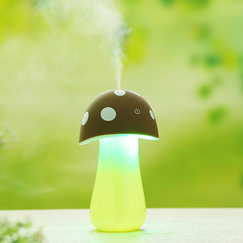 все цены на Hotsale Mini USB LED Light Air Humidifier Cute Mushroom Humidifier Ultrasonic Diffuser Mist Maker DC5V