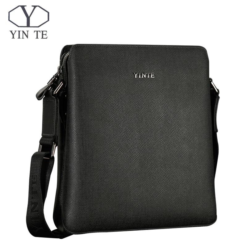 YINTE Men Messenger Bags Male Split Leather Men Leather Shoulder Bag Fashion Ipad Bag Cross Body Bags Portfolio 8518-2
