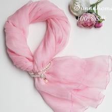 Чистый Одеяло шелк длинная детская шарф натурального шелка пашмины и Шаль Розовый тонкие летние призвание пляж Обёрточная бумага новорожденного шифон хиджаб