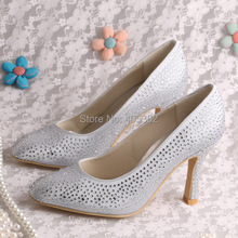 New Model Spring Autumn Women Shoes Heel Wedding with Crystal Pointed Toe