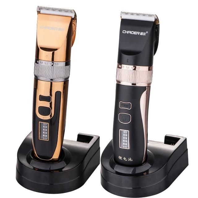 professional hair clipper 2000mA lithium battery titanium ceramic blade Rechargeable Hair Trimmer hair cutting machine