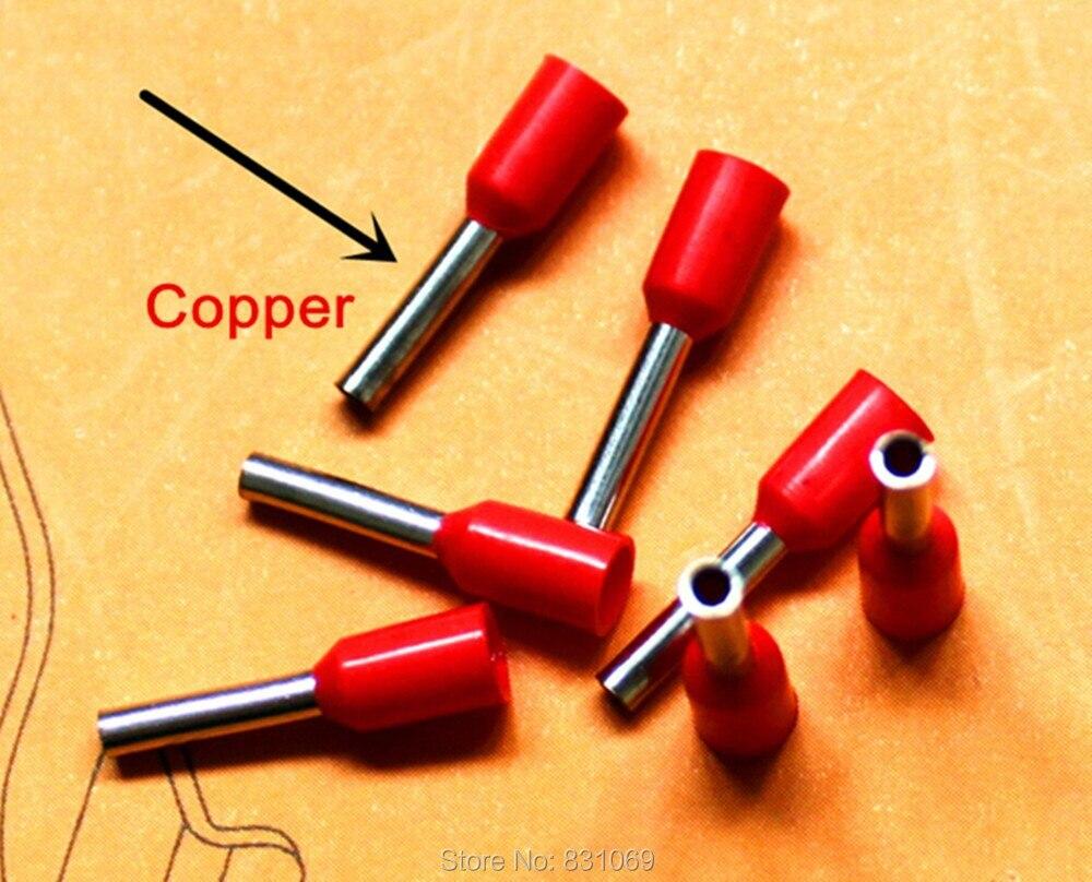 1000pcs/Lot 12 AWG 4.0mm2 Insulated Cord End Terminal Wire Ferrules E4012 1250pcs lot e2512 e4012 e6012 e10 12 e16 12 bootlace cooper ferrules kit set insulated cord pin end terminal 5 color