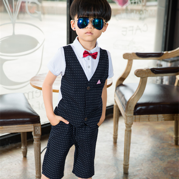 2017 Ceremonial Baby Suit Gentleman Boys Clothing European Style Baby Boy Formal Dress Wedding Suits Birthday Party Costume B005 baby boys suits clothes gentleman suit toddler boys clothing infant clothing wedding birthday cotton summer children s suits