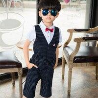 2017 Tören Bebek Takım Elbise Beyefendi erkek Giyim Avrupa Tarzı Erkek Bebek Resmi Elbise Düğün Doğum Günü Partisi Kostüm B005 Suits