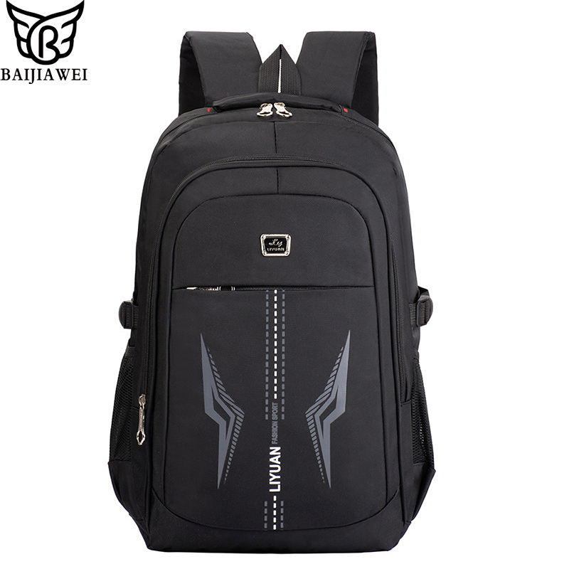 BAIJIAWEI Boys College School Bags Waterproof Laptop Backpack For Teenage Girls Boys Polyester Fashion Men Bags