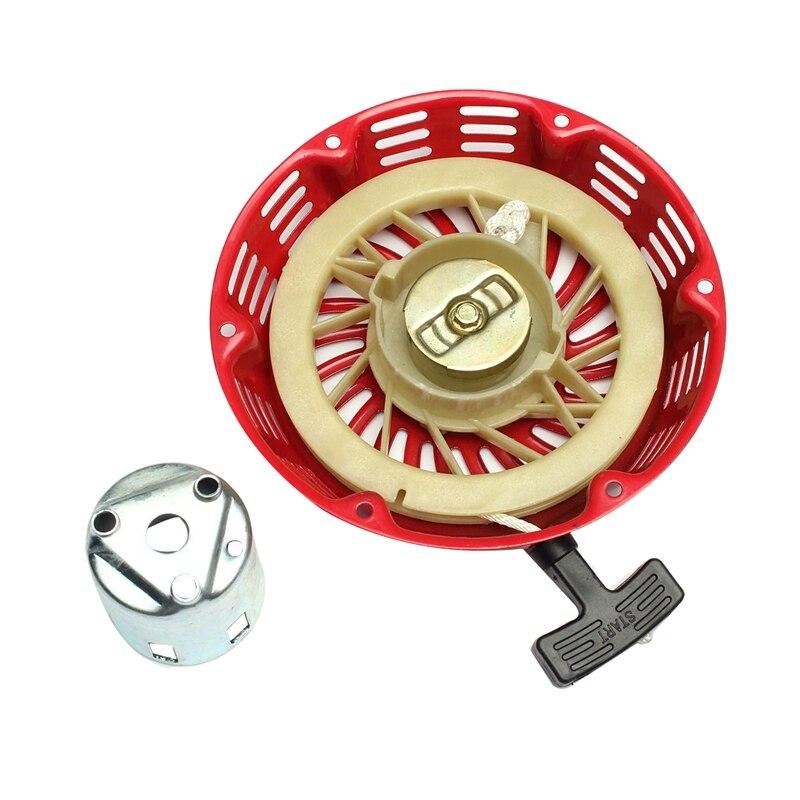 혼다 gx340 11hp & gx390 13hp 잔디 깎는 기계 발전기 엔진 스타터 로프에 대한 플랜지 컵 세트와 스타터 반동 당겨