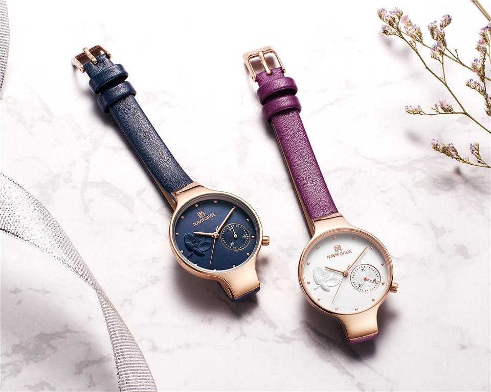 Fashion Blue / Black / Purple / Gray Waterproof Women Wristwatch Gift for Asawa