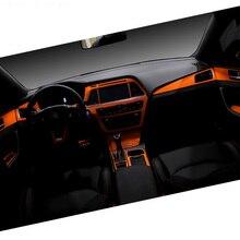 Car-Styling Brand New Car Interior Center Console Color Change Carbon Fiber Molding Sticker Decals For Hyundai Sonata 9