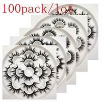 Buzzme H стиль 100 упак./лот 3D искусственной норки ресницы натуральные длинные накладные ресницы Эффектный объем Накладные ресницы макияж ресни