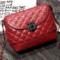 2017 New Brand Designer Gold Women Leather Rhinestone Crossbody Bag Chain Shoulder Messenger Bags for Woman bolsa feminina FR015