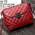 2017 Nova Marca Designer de Mulheres De Couro De Ouro de Strass Cadeia Saco Crossbody Ombro Messenger Bags para a Mulher bolsa feminina FR015