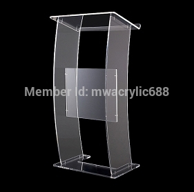 Pulpit Furniture Modern Design Cheap Transparent Clear Acrylic Lectern Acrylic Pulpit